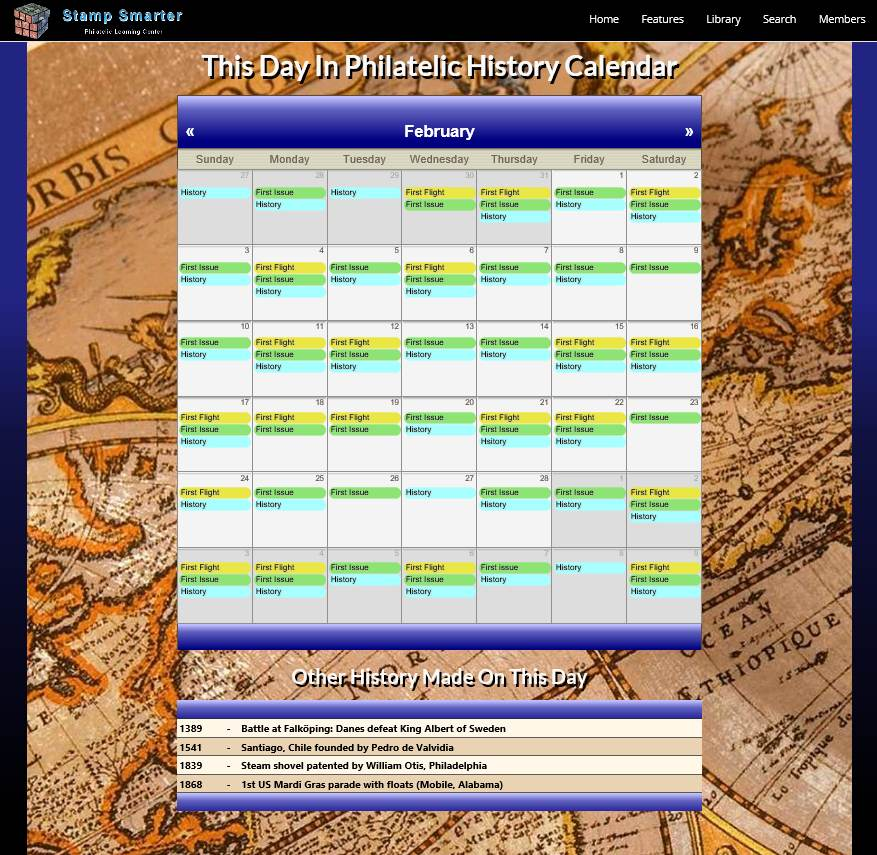 New This Day In Philatelic History Calendar On Stamp Smarter