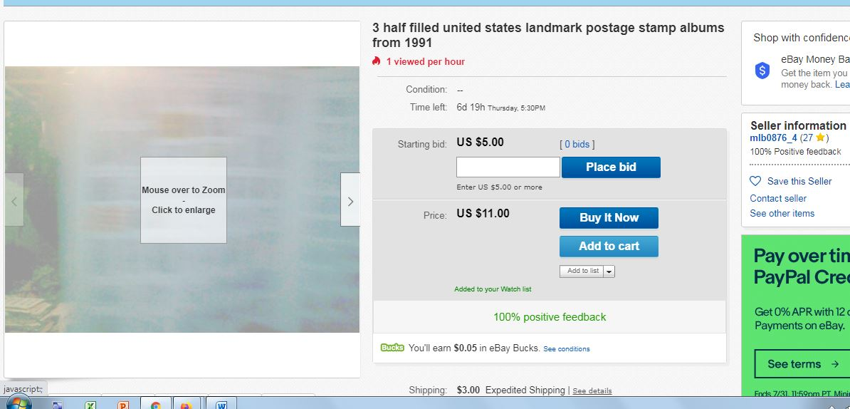 Another Contestant In The Ebay S Greatest Photo Contests Stamp Community Forum