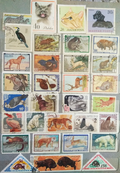 Help determine the value of a collection of stamps from different