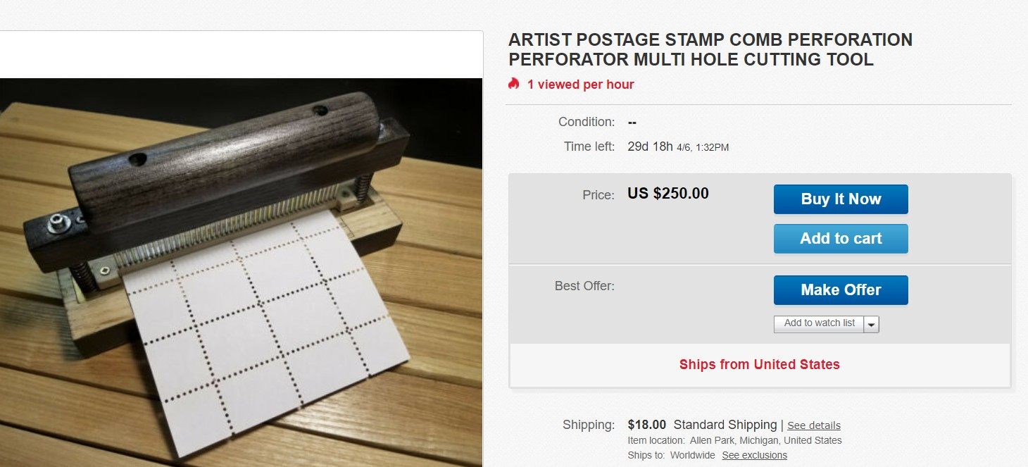 Apparently This Is How Reperforated Stamps Are Made These