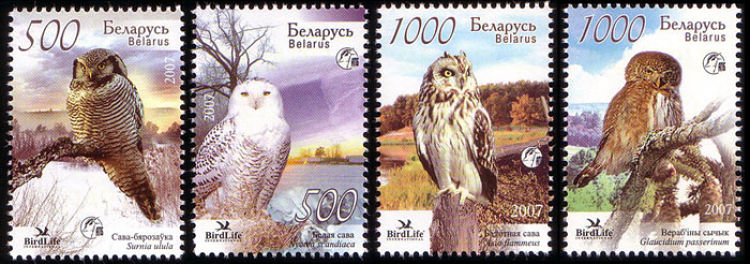 Owls On Stamps