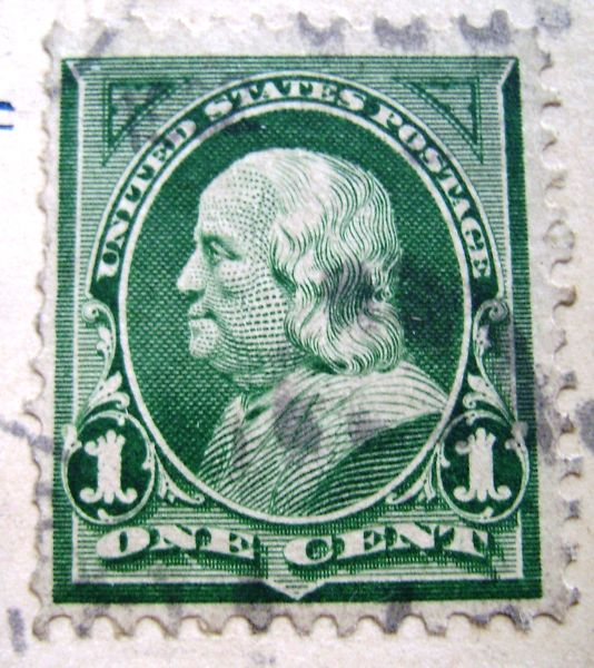 1 Cent Green Franklin Id Please Stamp Community Forum