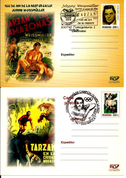 Johnny Weissmuller - TARZAN - 100 years from birth - Stamp Community