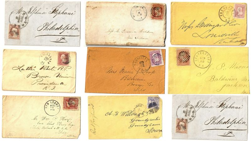writing cover letters 1860 civil war letters covers pink stamps stamp 1860