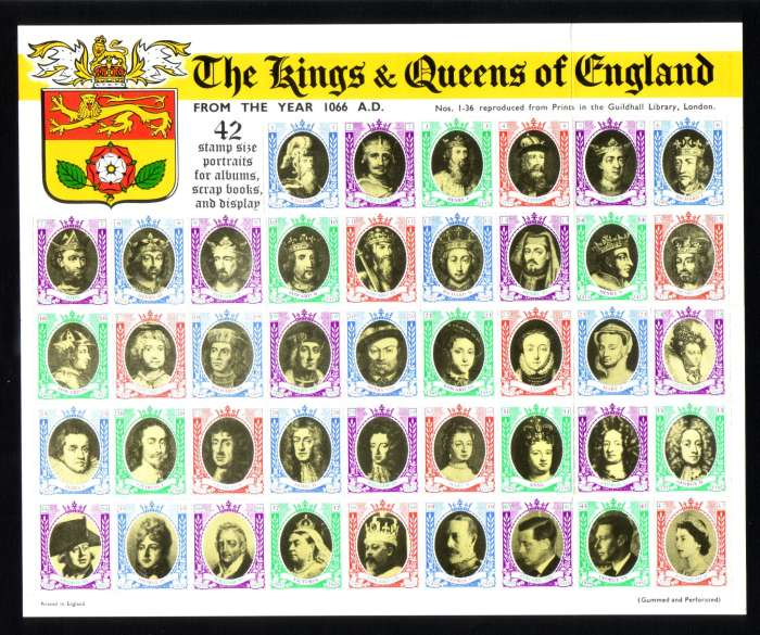 GB : Kings and Queens of England [42 pieces] - Stamp Community Forum