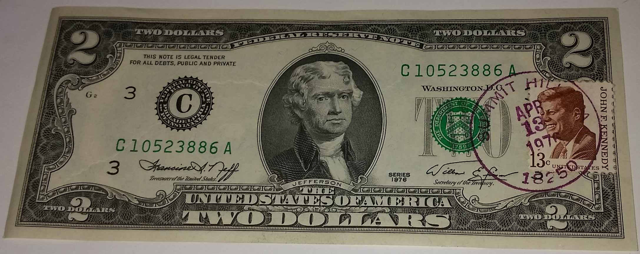 1976 Two Dollar Bills
