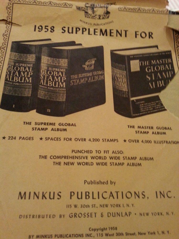 Minkus Supreme Global Album Back in Print - Stamp Community