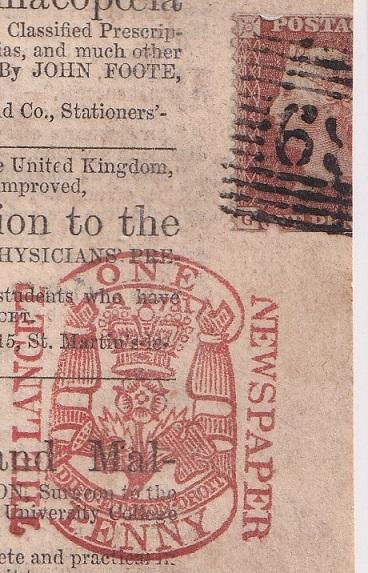 england newspaper stamp circa 1856 stamp community forum
