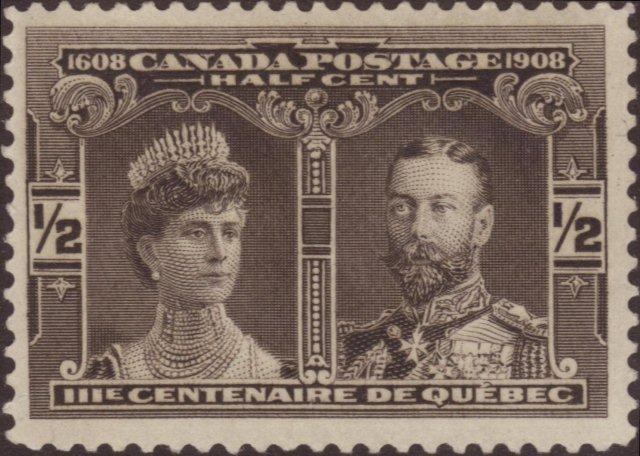Canada Half Cent Stamps