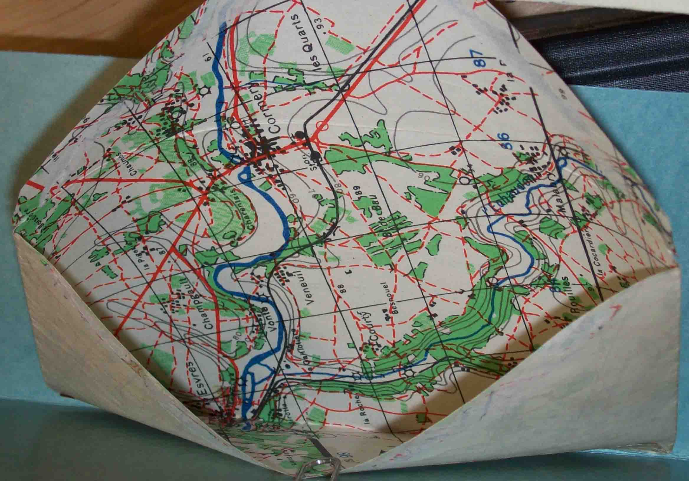 2 Recycled WWII European military maps made