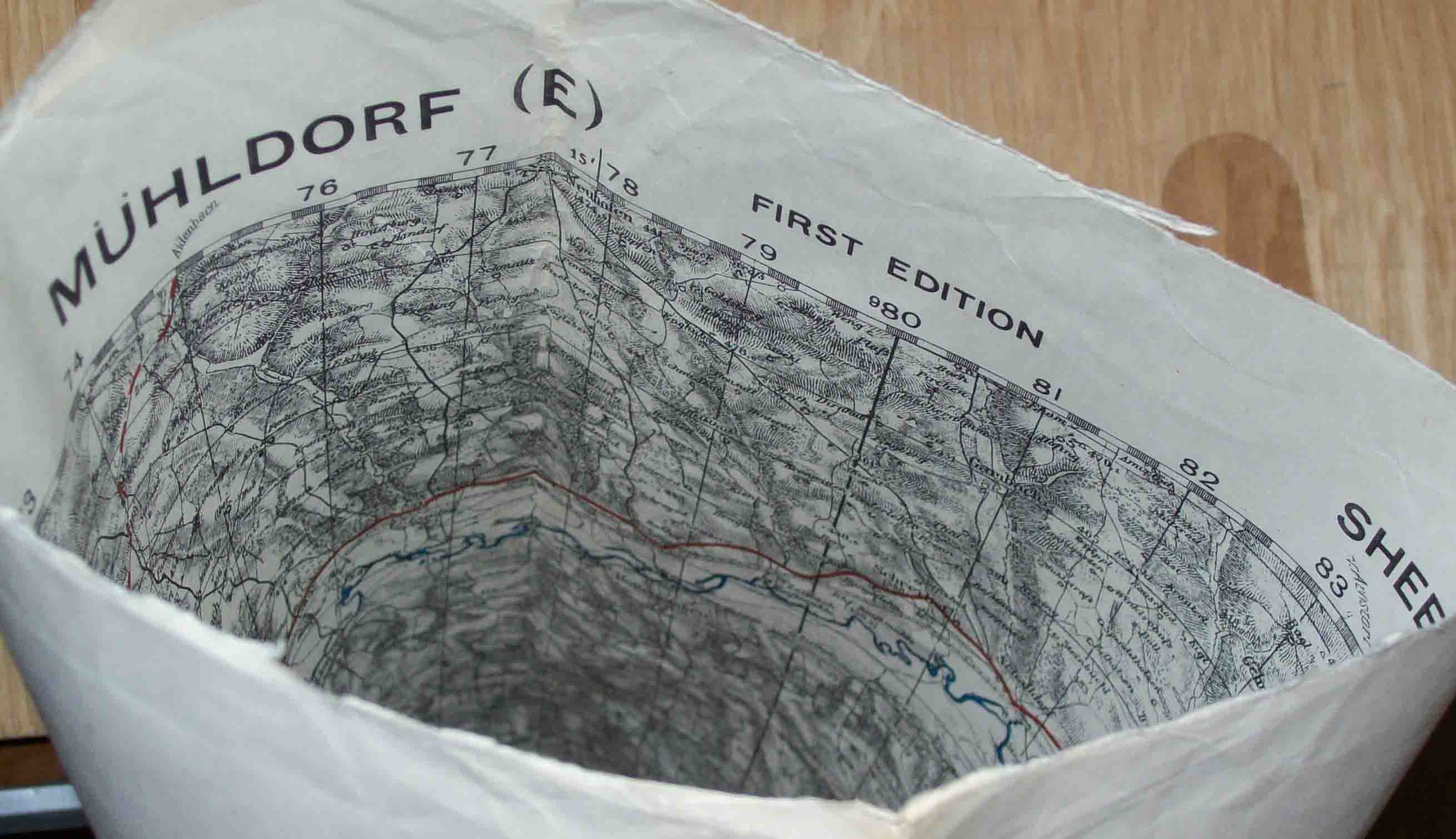 7 Recycled WWII European military maps made