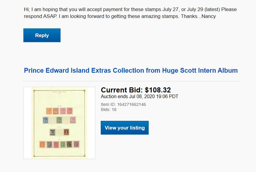 How Would You Respond To This Ebay Buyer Stamp Community Forum
