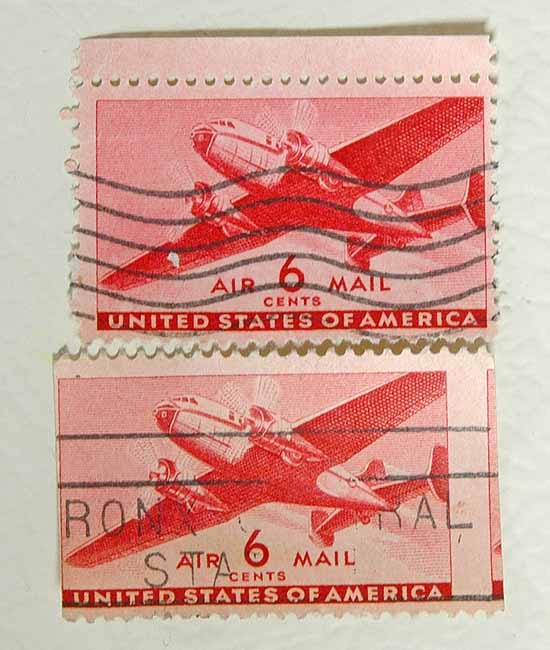 6 Cent 1941 Air Mail Stamp