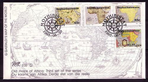 Help looking for stamps that have a map of africa on them stamp httpebayitmsouth africem5d300b0164 south africa bophuthatswana 1993 old african maps set of four gumiabroncs Image collections