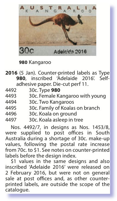 Adelade 2016 emergency issue 30 cent stamps - Stamp Community Forum
