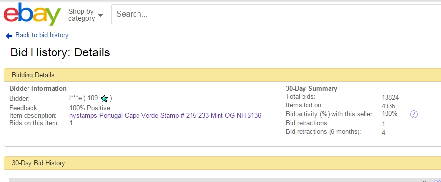 Ebay Bidder Stamp Community Forum
