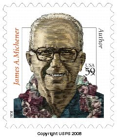 On May 12 2008 In Washington DC The Postal ServiceTM Will Issue A 59 Cent James Michener Definitive Stamp One Design Pressure Sensitive