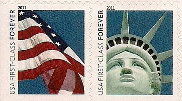 Lady Liberty Flag Forever Booklet Of 20 Issued 06 14 2011